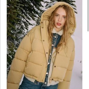 Urban outfitters cropped puffer